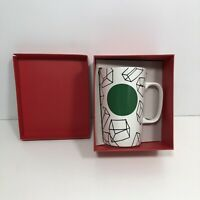 2014 Starbucks Coffee Tall Mug Cubes Design Green Dot Collection 16 oz Cup Box