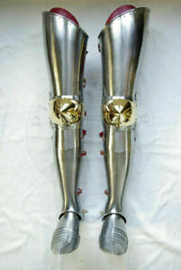 Medieval Leg Guard Armor Greaves Shoes Battle Armor Knight Cosplay Costume