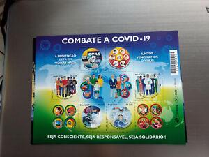 Brandneu 2020 Brazil Ms Von 6 Briefmarken Auf Combating Die Pandemisch & Virus -