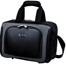 """US Traveler Black New Yorker Carry-on 15"""" Boarding Tote Bag with Piggy Bag Strap"""
