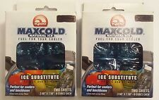 2x IGLOO MAXCOLD NATURAL ICE SUBSTITUTE REFREEZABLE ICE PACKS 4 SHEETS RE FREEZE