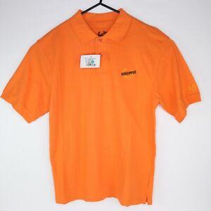 Vonzipper Mens Short Sleeve Polo Shirt Size M Melon Orange