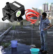 DC12V 3m 240L/H Ultra Quiet Brushless Motor Submersible Pool Water Pump Solar FS