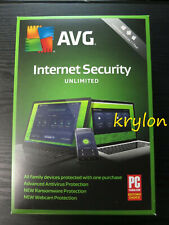 AVG Internet Security 2019 UNLIMITED Devices Mac PC 1 Year Physical Retail Box