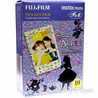 10 Fuji Instax Film Alice in Wonderland Fujifilm Mini 25 /7s Mini 8 Mini 90 /50s