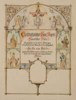 Franz GRUBER-GLEICHENBERG (*1886), zugeschr., Haussegen, um 1900, Zeichnung