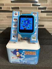 Sega Sonic The Hedgehog Interactive Kids Smart Watch Touchscreen Blue 41mm Games