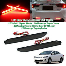 Smoked Lens LED Rear Bumper Reflector Brake Stop Taillight For Toyota Sienna,etc