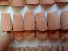 100 tegole 10x15mm coppo terracotta minuterie presepe miniature animal crib 9