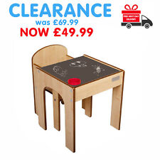 ❤️ SALE SALE Little Helper Childrens Kids Table & Chairs Set Chalkboard Desk ❤️
