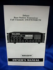 Ranger Rci-2990 10 Meter Radio Owners Manual