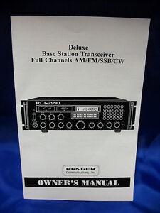 Ranger RCI-2990 10 Meter Radio Owners Manual