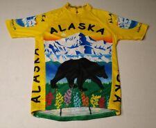 Champ-Sys Alaska State Cycling Jersey Mens Small Yellow Bear