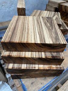 """Zebrano Bowl Blank/wood turning/exotic Woods /exotic hardwoods/ 10x10x2"""""""