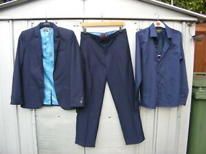 TED BAKER, BAKER BEST, boys navy suit and shirt, age 13-14, wedding, party, prom