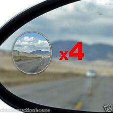 4 pcs Car Mirror Blind Spot For Cars SUVs Motorcycles Aluminum Frame Real Glass
