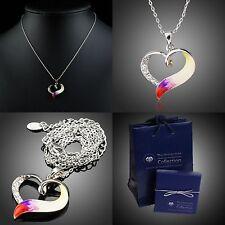 Herz Original Halskette A351 Geschenk Etui Set /verziert mit Swarovski® Kristall