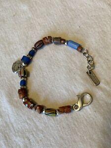 Sundance Artist, Jes maHarry Sterling Silver and Trade Bead Bracelet