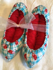 Ladybugs Super Puffy Ice Skate Soakers Blade Covers Size M (Add'l Sizes)