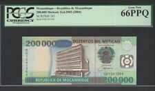 Mozambique 200000 Meticais 16-6-2003(2004) P141 Uncirculated Graded 66
