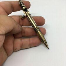 Handmade EDC Brass Skull Ballpoint Pen Retro Bolt Type Ball point Keychain Pen