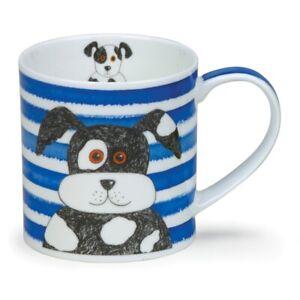 Dunoon Mug Orkney Shape - Stripy Dogs - Blue