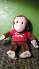 "12"" Curious George Plush Toy Stuffed Animal Applause russ berrie   red shirt"