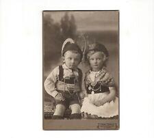 CAB Foto Niedliche kleine Kinder in Tracht - Blankenburg 1900er