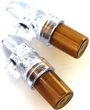 2x Acryl Glas Dosierer Snuff Bottle Schnupfdosierer Dispenser transparent mittel