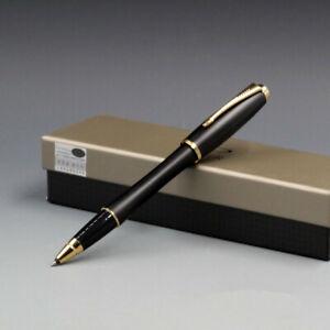Parker Pen Urban Series Matte Black Golde Cilp 0.5mm F Nib Rollerball Pen No Box