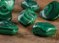 MALACHITE Tumbled Stones - Healing Crystals, Unique Gift, Meditation Stone E1266