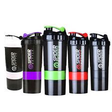 650ml Proteína Coctelera Botella Copa Mezclador Batidora Fitness Entrenamiento Gimnasio Deporte Libre de BPA