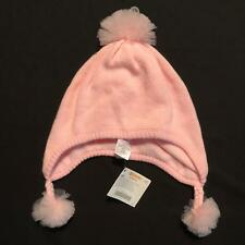 NWT Gymboree Girls Pink Tulle Pom Winter Hat Size 8 & Up