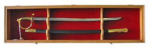 Sword Display Case Cabinet Stand Holder Wall Rack - Lockable door, KCS03-OA