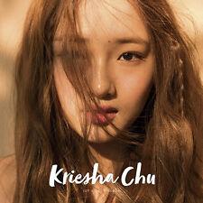 KRIESHA CHU 1st Single Album CD+POSTER+Photo Book SEALED Feat. YONG JUNHYEONG