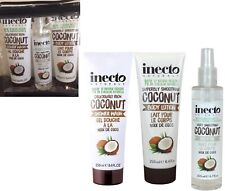 Inecto COCONUT Oil Body Care Vegan GIFT SET Body Wash + Lotion + Body Oil