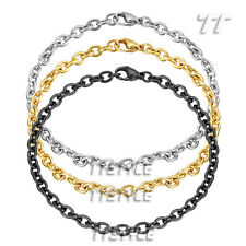 Rolo Chain Bracelet Three Colour (Cb167) High Quality Tt 4.5mm Stainless Steel