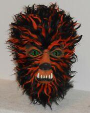 Collector BLACK & ORANGE HALLOWEEN EDITION WOLFMAN MASK Classic Monster Werewolf