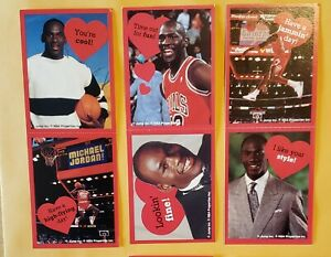 1991 Cleo Michael Jordan Valentines Card Lot Of 6 on 3 different panels