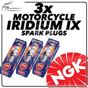 3x NGK Iridium IX Spark Plugs for TRIUMPH 1050cc Speed Triple Inc. R 05-> #4218