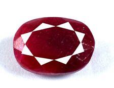 10 ct + ovale naturel de pierres précieuses de rubis rouge africain