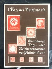 1936 Berlin Germany Stamp On Stamp First Day Postcard Cover   FDC