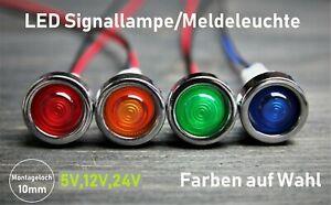 LED Signallampe Meldeleuchte 10 mm Signalleuchte KFZ  Kontrollleuchte 5V 12V 24V
