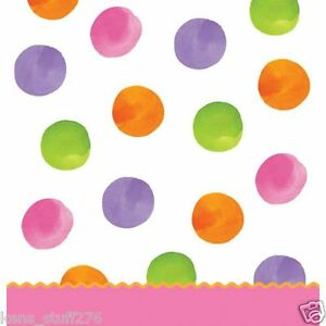 """Multi-color Dot Table Cover, Big 1 Dots Girl Table Cloth 54"""" x 108"""", Baby Shower"""
