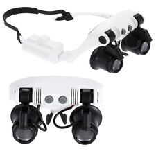 Occhiali Lente D'Ingrandimento 10X 15X 20X 25X Portatile Con 2 LED Leggero