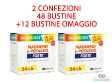 MASSIGEN FORTE Magnesio e Potassio 48 buste + 12 OMAGGIO  2 CONFEZIONI