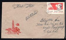 N.Vietnam-Stamp President Ho Chi Minh on Cover to Ha Bac 1970 Rare