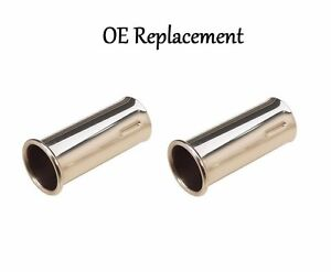 For Mercedes W113 280SL 250SL 230SL Tail Pipe Extension SET OF TWO 113 492 02 14