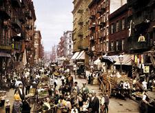 Mulberry Street Hells Kitchen 1900 New York City poster print
