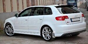 Audi A3 8PA Sportback Heckschürze S3 Look Heckansatz Heckspoiler Spoilerlippe